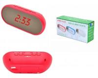 Часы сетевые VST 712Y-1 красные цифры, без блока питания