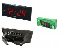 Часы сетевые VST 719T-1 красные цифры, говорящие, без блока питания