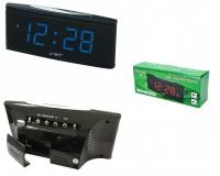 Часы сетевые VST 719T-5 синие цифры, говорящие, без блока питания