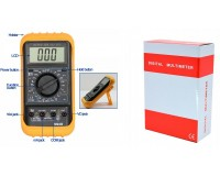 Мультиметр M92B цифровой. в резиновой калоше, прозвон, питание 9V (6F22)