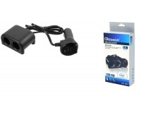 Переходник для прикуривателя OLESSON 1641 на 2 гнезда(120W)+ USB(5V/1200mA), на шнуре до 0, 6 м