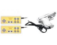 Геймпад Dendy 8-бит 01-JS набор 2 джойстика + световой пистолет, 15 pin, zip пакет
