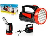 Фонарь-прожектор SmartBuy SBF-401-1-K 1 светодиод (2W)+18 SMD светодиодов, аккумулятор 4V 2Ah, кабель для зарядки, 2 режима работы: прожектор — 6 часов, светильник — 8 часов