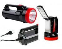 Фонарь-прожектор SmartBuy SBF-100-K 1 светодиод (2W)+18 SMD светодиодов, аккумулятор 4V 2Ah, кабель для зарядки, 2 режима работы: прожектор — 6 часов, светильник — 8 часов
