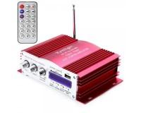 Усилитель звука - HY3001 4 х 20 Вт, цифровой радиоприемник 87.5-108 мГц , поддержка USB, SD/MMC до 16гб, размер: 16.5 х 11.5 х 4.5 см, пульт ДУ