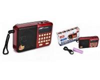 Приемник Joc H110SUR аккумуляторный AUX/USB/microSD до 32Гб, Bluetooth, питание: от аккумулятора 18650 (в комплекте)