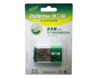 Аккумулятор Delipow 6LR61(6F22) 230 mAh BL 1