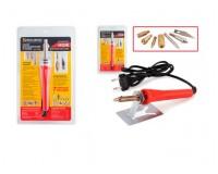 Набор для выжигания BRAUBERG 30Вт 220В 150621, 6 насадок + нож для резки пластика, красный, блистер