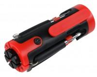 Мультиинструмент Rosenberg RPS-765008 5 в 1: отвертка шлицевая - 2шт, отвертка крестовая - 1шт, микроотвертка - 2шт, подсветка рабочей зоны, материал: пластик, металл.