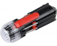 Мультиинструмент Rosenberg RPS-765009 8 в 1: отвертка шлицевая - 2шт, отвертка крестовая - 3шт, микроотвертка - 2шт, LED-фонарик , светодиодная подсветка рабочей зоны, материал: пластик, металл.