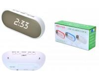 Часы сетевые VST 712Y-6 белые цифры, без блока питания