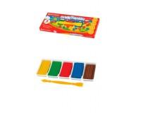 Пластилин BRAUBERG 103348 количество цветов в наборе: 5 цветов масса: 125 г классический, стек (пластиковый нож), картонная упаковка
