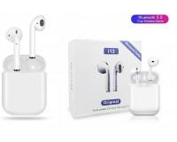 Наушники беспроводные - i13-TWS вкладыши, Bluetooth, беспроводные, пенал для зарядки, аккумулятор 30 мАч цветные