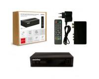 Цифровой телевизионный ресивер SmartBuy SB-STB-T2-GX3235 DVBT2 + медиаплеер, USB, внешний блок питания, пульт