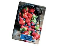 Весы кухонные Atlanta ATH-6214 электронные, цена деления 1 г. max 5 кг. яркий дисплей, сенсорные кнопки, автоотключение, размер 2.7х16.2х16.2см, красные