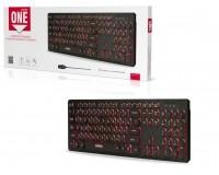Клавиатура SmartBuy SBK-328U-K USB Black 104 клавиши, с подсветкой