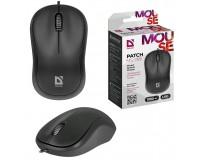 Мышь Defender MS-759 Patch USB Optica (1000 dpi) черная, 2 кнопки+колесо-кнопка, коробка