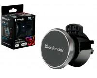Держатель Defender Car holder 128 для смартфона и планшета весом до 500 гр., магнит, на воздуховод, поворотный, черный
