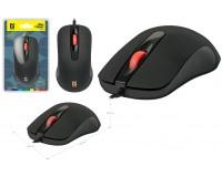 Мышь Defender MB-280 Ultra Classic USB Optical (1000dpi) черная, 2 кнопки+колесо-кнопка, 7 цветов подсветки, покрытие Soft Rubber Skin коробка