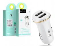 Автомобильное зарядное устройство HOCO Z1 12-24В 2100 мА 2 USB белое