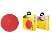 Беспроводное зарядное устройство HOCO CW14 Round входной ток: 2А выходной ток: 1А красный, коробка