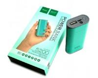 Портативное зарядное устройство HOCO B21 5200 мАч 1USB выход 5В/1А, бирюза(зеленый)