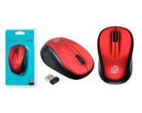 Мышь беспроводная Oklick 665MW USB Optical (1000dpi) черный/красный 3 кнопки+колесо-кнопка блистер