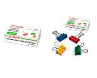 Зажимы для бумаг STAFF 225158 комплект из 12шт., размер 32мм., на 140 листов, в картонной коробке, цветные