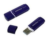 Флэш диск 256 GB USB 3.0 SmartBuy Crown Blue с колпачком