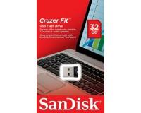 Флэш диск 32 GB USB 2.0 SanDisk CZ33 Cruzer Fit без колпачка