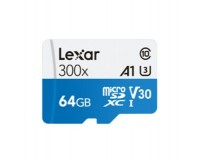 Флэш карта microSDXC 64 GB Lexar Class 10 300x UHS-I (U3), V30 с адаптером