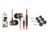 Наушники с микрофоном Blast BAH-292 внутриканальные, кабель 1, 2 м., силиконовые насадки разных размеров, черные коробка