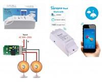 Умный дом Wi-Fi реле Sonoff Dual 10А на канал (не более 15А суммарно), 90-250В AC, два канала, WiFi: 2.4 ГГц, 802.11.b/g/n