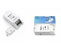 Умный дом Wi-Fi реле Sonoff TH16 15А, 90-250В AC, один канал, WiFi: 2.4 ГГц, 802.11.b/g/n, подключение датчиков температуры и влажности
