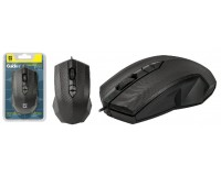 Мышь Defender Guide MB-751 USB Optical (1000 dpi) черная, 2 кнопки+кнопка-колесо, блистер