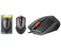 Мышь Defender Expansion MB-753 USB Optical (1200 dpi) черная, 2 кнопки+кнопка-колесо, силиконовое колесо прокрутки 3D блистер