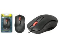 Мышь Defender Point MM-756 USB Optical (1000 dpi) черная, 2 кнопки+кнопка-колесо, силиконовое колесо прокрутки блистер
