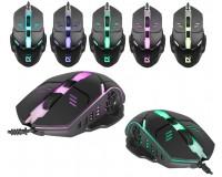 Мышь Defender Ultra Matt MB-470 USB Optical (800-1200 dpi) черная, 3 кнопки+кнопка-колесо, 7 цветов подсветки, силиконовое колесо прокрутки, блистер
