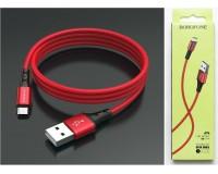 Кабель microUSB Borofone длина 1м, 2А, коробка, красный (BX20 Enjoy)