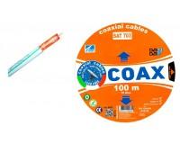 Кабель коаксиальный AVS Electronics длина 100м, Cu медь, 75 Ом, белый, SAT-703