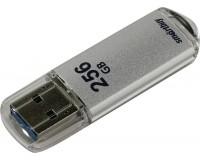 Флэш диск 256 GB USB 3.0 SmartBuy V-Cut Silver с колпачком