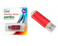 Флэш диск 32 GB USB 2.0 Perfeo E01 economy series Red с колпачком, металлический корпус