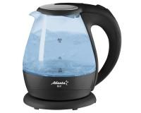Чайник Atlanta ATH-2460 2000Вт. 1, 5л. стекло, дисковый, подсветка Black