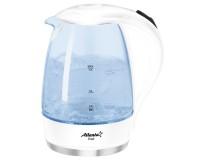 Чайник Atlanta ATH-2461 2000Вт. 1, 7л. стекло, дисковый, подсветка, White
