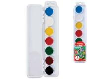 Краски акварельные BRAUBERG 190549 количество цветов: 7, медовые, увеличенные кюветы, без кисти, пластиковая коробка