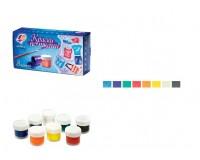 Краски акриловые художественные Луч 23С1475-08 количество цветов: 8 по 15 мл., по ткани, в баночках(191065)