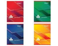 Тетрадь 40 листов STAFF 402644 формат А5, обложка- мелованный картон, внутренний блок - офсет, 60 г/м2, клетка, скрепка