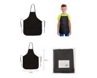 Фартук для труда и занятий творчеством Пифагор 227246 с карманом, для начальной школы, водонепроницаемый, 44х55 см черный