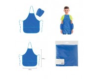 Фартук для труда и занятий творчеством BRAUBERG 228363 с нарукавниками, для учеников начальной школы, водонепроницаемый, размер 45х60 см, синий