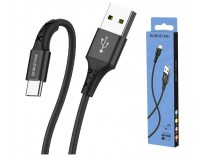 Кабель Type-C Borofone длина 1м, USB2.0, 2А, коробка, черный (BX20 Enjoy)